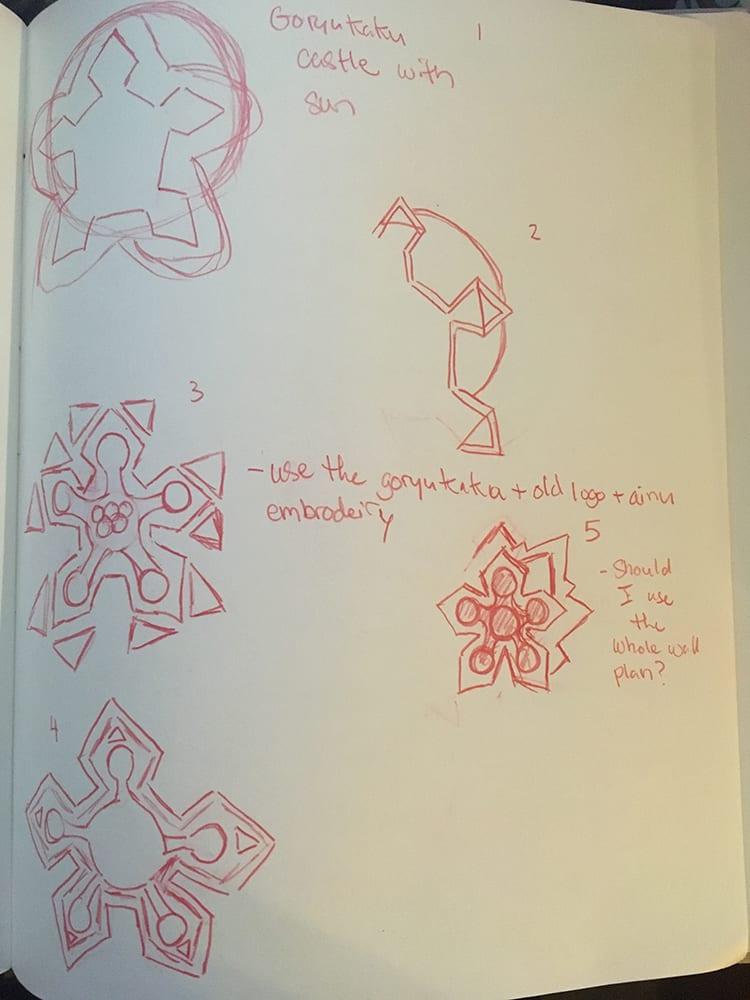 Concept sketches for logo
