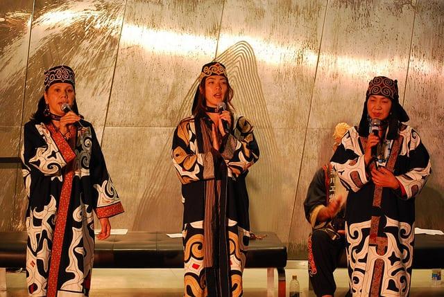 Ainu women singing.