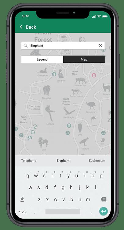 Lo-fi Screen on IPhone X. Search Screen.